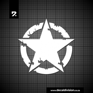 Military Star Sticker Distressed