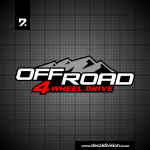 Offroad 4 wheel drive sticker