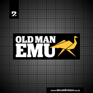 Old Man Emu Logo Sticker