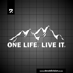 One Life. Live it Sticker - Wide Mountain