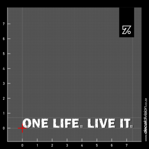 One Life. Live it Sticker