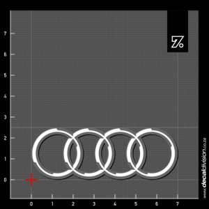 Audi Rings Embossed Sticker
