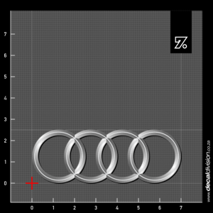 Audi Rings Shaded Sticker
