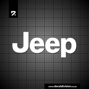 Jeep Logo Lettering Sticker