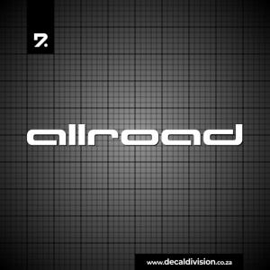 Audi Allroad Lettering Sticker