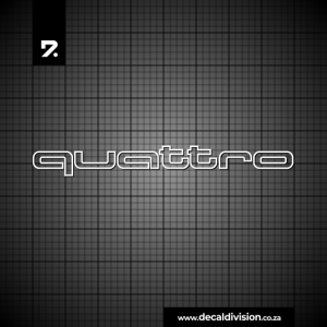 Audi Quattro Logo Outline Sticker