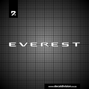 Ford Everest Lettering Sticker