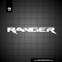 Ford Ranger Lettering Sticker - Distressed