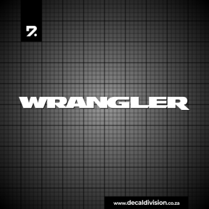 Jeep Wrangler Lettering Sticker
