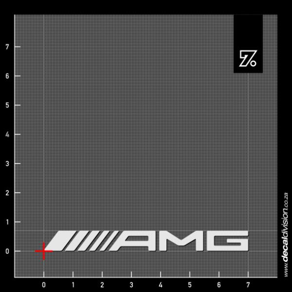 Mercedes benz amg logo sticker for Mercedes benz logo decals stickers