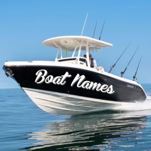 Boat Name Stickers