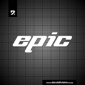 Epic Kayak Logo Sticker