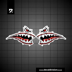 Shark Teeth Sticker Set A