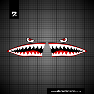 Shark Teeth Sticker Set B