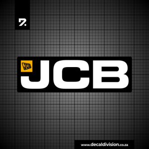 JCB Machines Logo Sticker