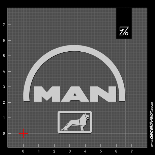 man trucks logo sticker