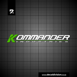 Kommander Industries Logo Sticker