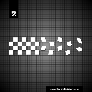 Racing Stripe Checker Scattered