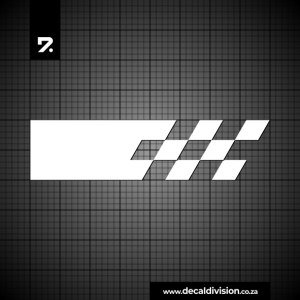 Racing Stripe - Checker Slanted