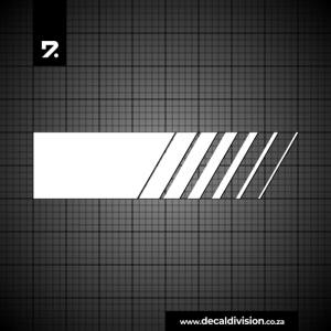 Racing Stripe Halftone Lines Slanted