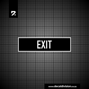 Office Sign - Exit