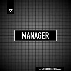 Office Sign - Manager
