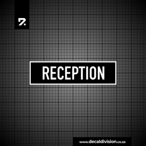 Office Sign - Reception