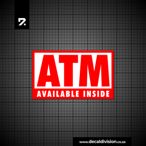 ATM Inside Sticker