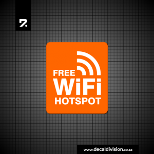 Free Wifi Hotspot Sticker