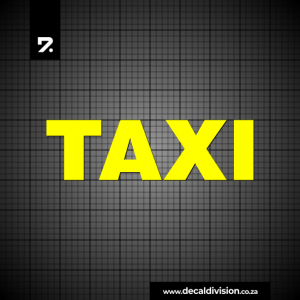 Taxi Lettering Sticker