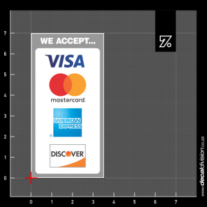 We accept Credit Sticker