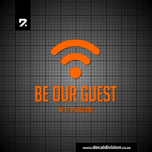 Wi-Fi Sticker - Be our Guest