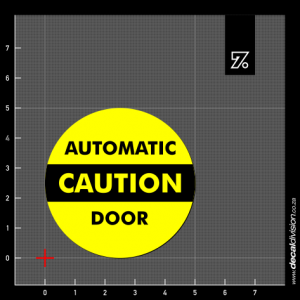 Caution Automatic Door Sticker