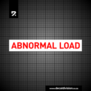 Abnormal Load Truck Sign