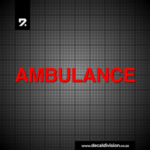 Ambulance Lettering Sticker