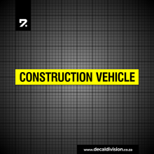 Construction Vehicle Sticker