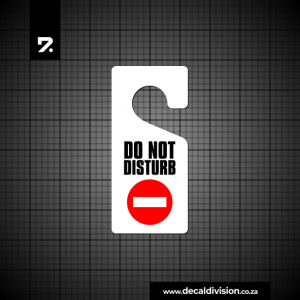 Door hanger sign - Do not disturb