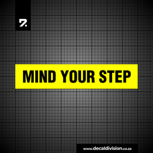 Mind your Step Sticker