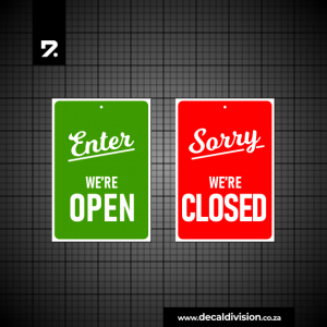 Open Closed Hook Sign