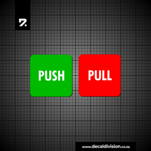 Push and Pull Door Sticker Set