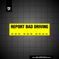 Report Bad Driving Sticker