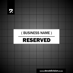 Reserved Parking Sign - Business Customer Only