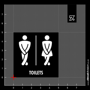 Toilets Sign A