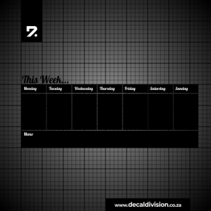 Weekly Planner Chalkboard Sticker