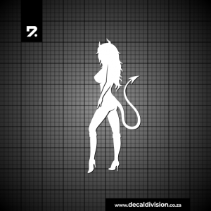 Bad Girl Silhouette Sticker