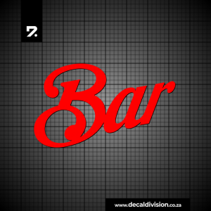 Bar Lettering Sticker