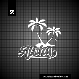 Glass Window Sticker - Aloha Island