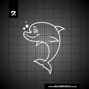 Glass Window Sticker - Dolphin