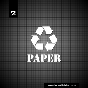 Recycle Bin Sticker - Paper