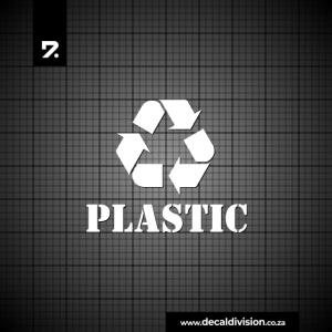 Recycle Bin Sticker - Plastic